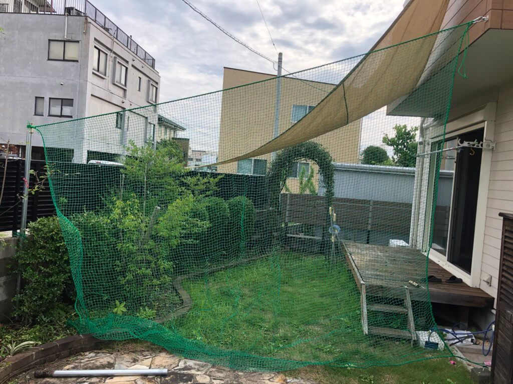 庭の打ちっぱなし練習場